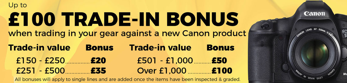 Canon Week Trade-in bonus