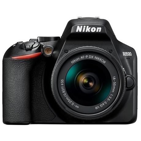 Nikon D3500 DSLR Digital Camera with 18-55mm lens AF-P DX VR Black Image 1