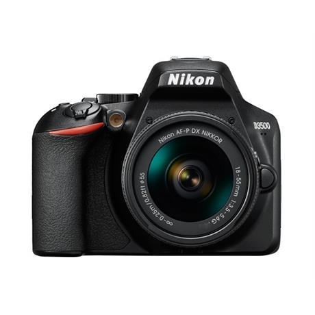 Nikon D3500 DSLR Digital camera with 18-55mm lens AF-P DX  Black Image 1