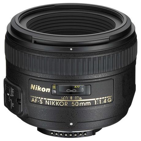 Nikon AF-S NIKKOR 50mm f/1.4G DSLR Camera Lens Image 1