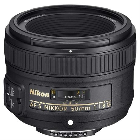 Nikon AF-S NIKKOR 50mm f/1.8G DSLR Camera Lens Image 1