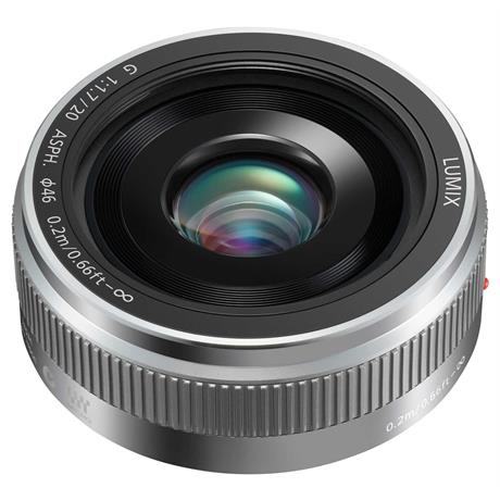 Panasonic Lumix G 20mm f/1.7 II ASPH Silver - M4/3 lens Image 1