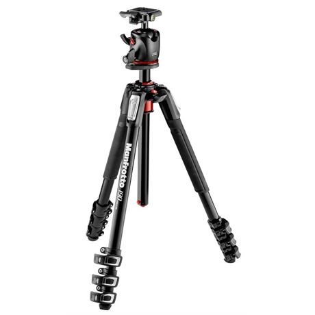 Manfrotto MK190XPRO4-BHQ2 4 Section Aluminium Tripod with MHXPRO-BHQ2 Ball Head Image 1