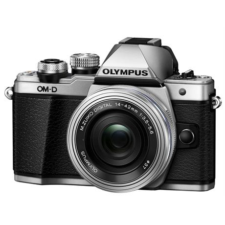 Olympus OM-D E-M10 Mark II Camera With 14-42mm EZ Lens Kit - Silver Image 1