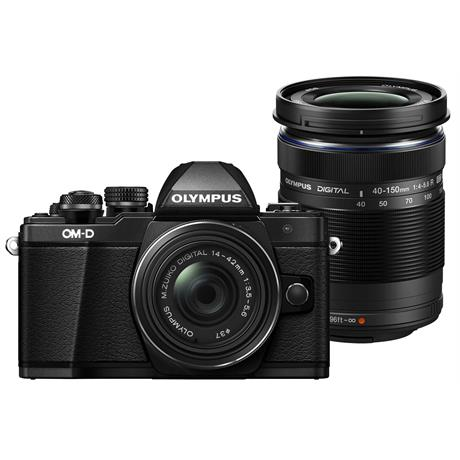 Olympus OM-D E-M10 II + 14-42 EZ + 40-150 mirrorless digital camera Black Image 1