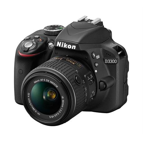 Nikon D3300 + AF-S DX NIKKOR 18-55mm f/3.5-5.6G VR II - Black Image 1