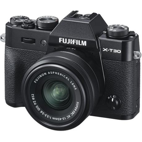 FujiFilm X-T30 with 15-45mm Lens black