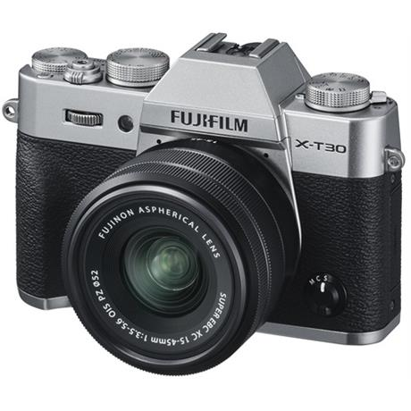 Fujifilm X-T30 with 15-45mm lens silver