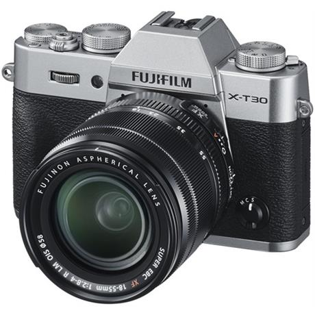 FujiFilm X-T30 with XF 18-55mm Lens Silver