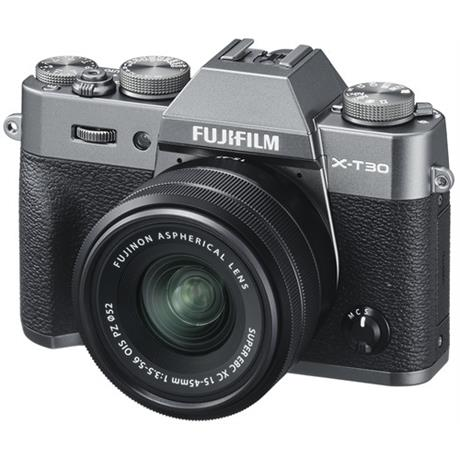 FujiFilm X-T30 with XC 15-45mm Lens charcoal