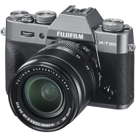 FujiFilm X-T30 camera with 18-55mm lens Charcoal