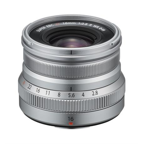 Fujifilm XF 16mm f2.8 R WR Super Wide Angle Prime Lens - Silver Image 1