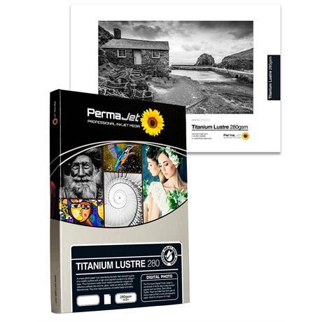 PermaJet Titanium Lustre Metallic 280gsm - A4 25 Pack Image 1