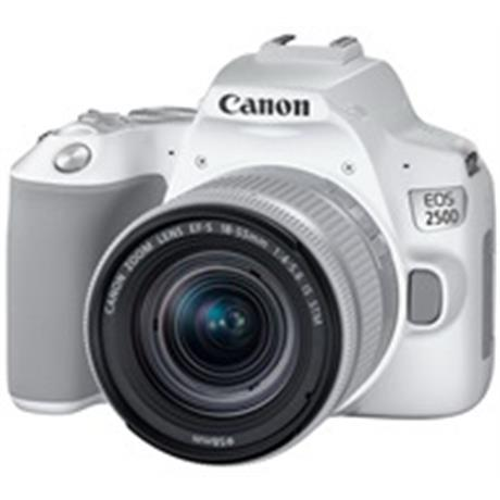 Canon EOS 250D Body With EF-S 18-55mm f/4-5.6 IS STM Lens Kit - White Image 1