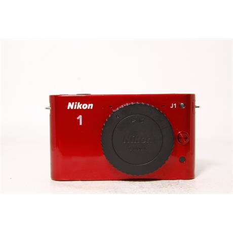 Used Nikon J1 Body Red & 10-30mm VR Red Image 1