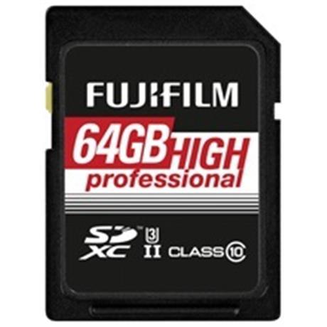 Fujifilm 64GB SDHC UHS II 180/285 Image 1