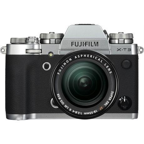 Fujifilm Fuji X-T3 18-55mm Silver Camera kit with 55-200mm lens Image 1