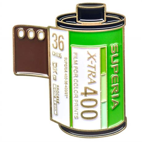Official Exclusive Fujifilm Superia 400 35mm Film Cannister Pin Badge Image 1