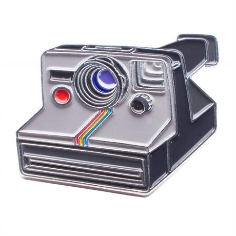 Official Exclusive Polaroid One-Step Rainbow SX-70 Instant Camera Pin Badge Image 1