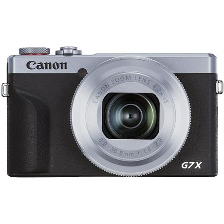 Canon PowerShot G7 X III Silver Compact Camera Dual Battery Kit Image 1