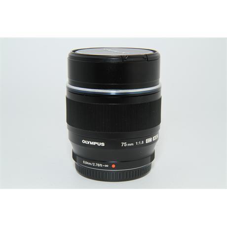 Used Olympus 75mm f/1.8 Lens Black Image 1