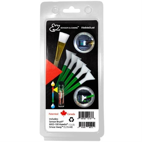 VisibleDust 5 Green Swabs 1.3x + Sensor Brush + 1.15ml Smear Away Image 1
