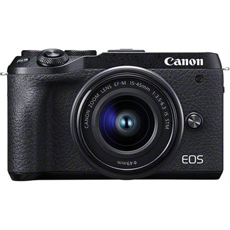 Canon EOS M6 Mk II Mirrorless Camera With 15-45mm Lens Kit - Black Image 1