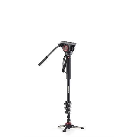 Manfrotto XPRO 4 Section Aluminium Video Monopod with 500 Fluid Head - Ex Demo Image 1