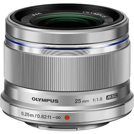 Olympus M.Zuiko Digital 25mm f/1.8 Lens - Silver Image 1