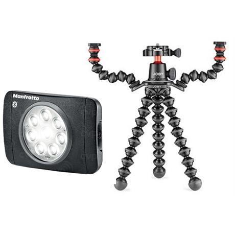 Manfrotto Vlogging kit Gorillpoad 3k rig with Lumimuse 8 LED light Image 1