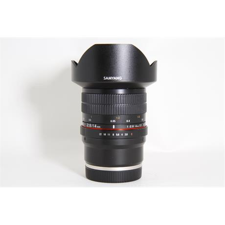 Used Samyang 14mm F2.8 ED IF UMC Sony E Image 1
