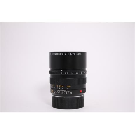 Used Leica 75mm APO-Summicron-M F/2 ASPH Image 1