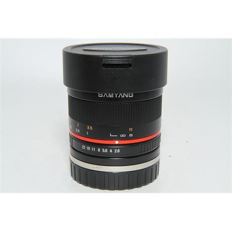 Used Samyang 8mm F2.8 Fisheye II Sony E Image 1