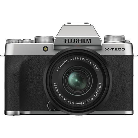 Fujifilm X-T200 Mirrorless Camera With 15-45mm XC Lens Kit Silver Image 1
