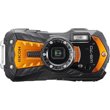 Ricoh WG-70 Waterproof Rugged Camera Orange Image 1