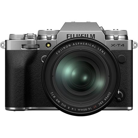 Fujifilm X-T4 Mirrorless Camera With XF 16-80mm f/4 Lens Kit Silver Image 1