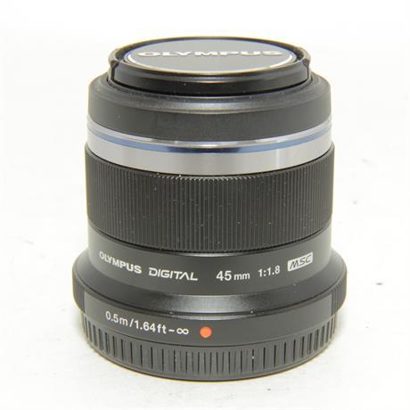 Used Olympus 45mm f1.8 Black Lens Image 1