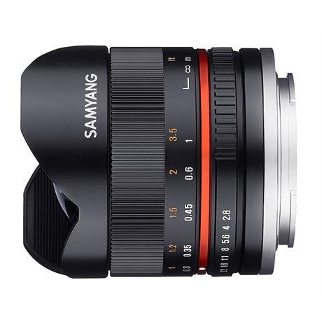 Samyang 8mm f/2.8  Fisheye II Black Lens- Sony E Mount Image 1