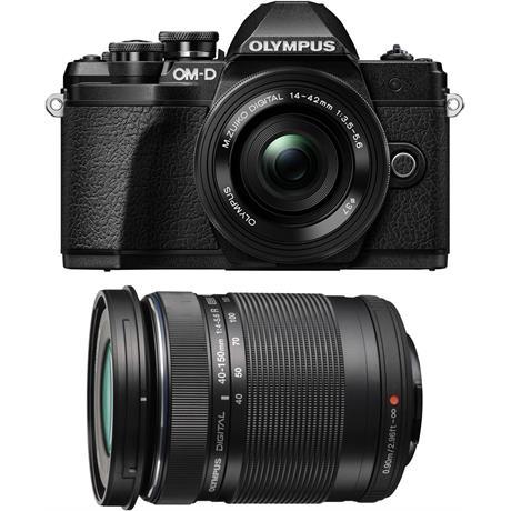 Olympus OM-D E-M10 Mark III & 14-42mm EZ & 40-150mm Twin Lens Kit - Black Image 1