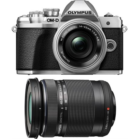 Olympus OM-D E-M10 Mark III & 14-42mm EZ & 40-150mm Twin Lens Kit - Silver Image 1