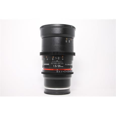 Used Samyang 35mm T/1.5 VDSLR II Sony E Image 1