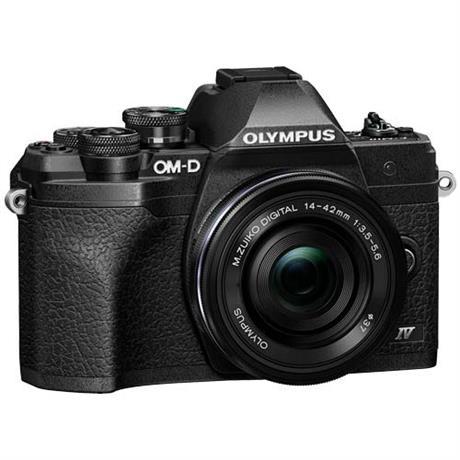 Olympus OM-D E-M10 Mark IV MFT Camera With 14-42mm EZ Lens Kit Black Image 1