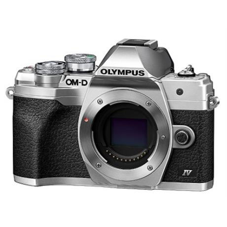 Olympus OM-D E-M10 IV Camera Silver Body Image 1