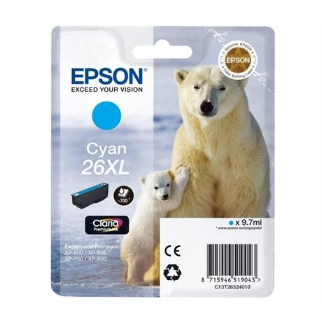 Epson Polar Bear T2632 XL Cyan Ink Cartridge Image 1
