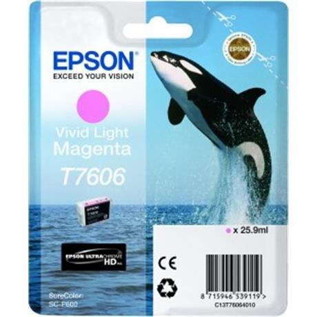 Epson Whale T7606 Vivid Light Magenta Image 1