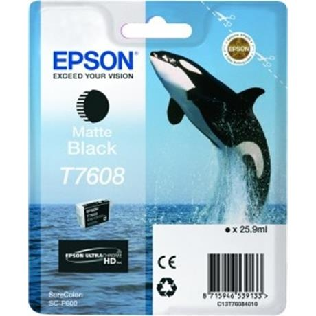 Epson Whale T7608 Matt Black Image 1