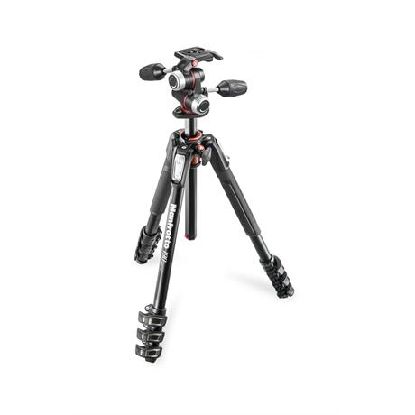 Manfrotto MK190XPRO4-3W 4 Section Aluminium Tripod with MHXPRO-3W 3-Way Head Image 1