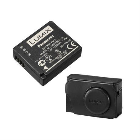 Panasonic TZ80 Leather Case and Battery Kit Image 1