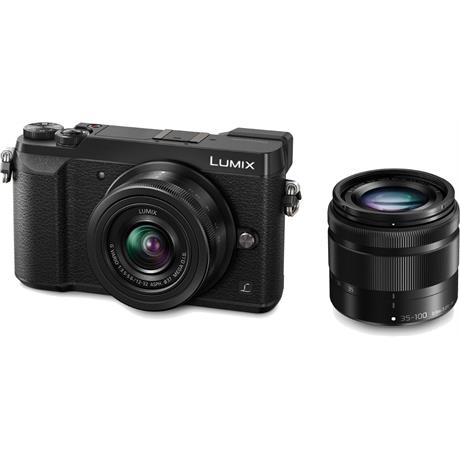 Panasonic GX80 digital compact system camera + 12-32mm + 35-100mm lens Kit - Black  Image 1