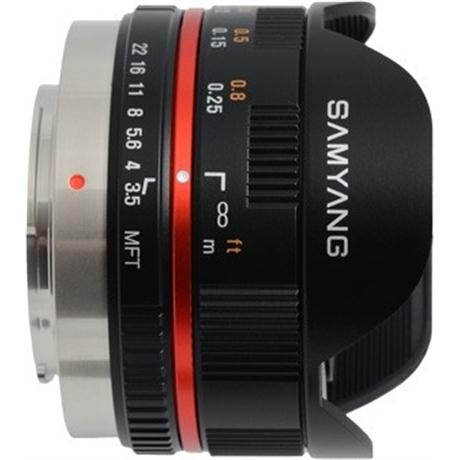 Samyang 7.5mm f/3.5 UMC Fisheye MFT - Black Image 1
